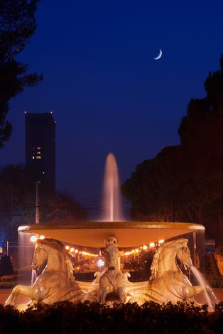 Rimini. La fontana dei quattro cavalli